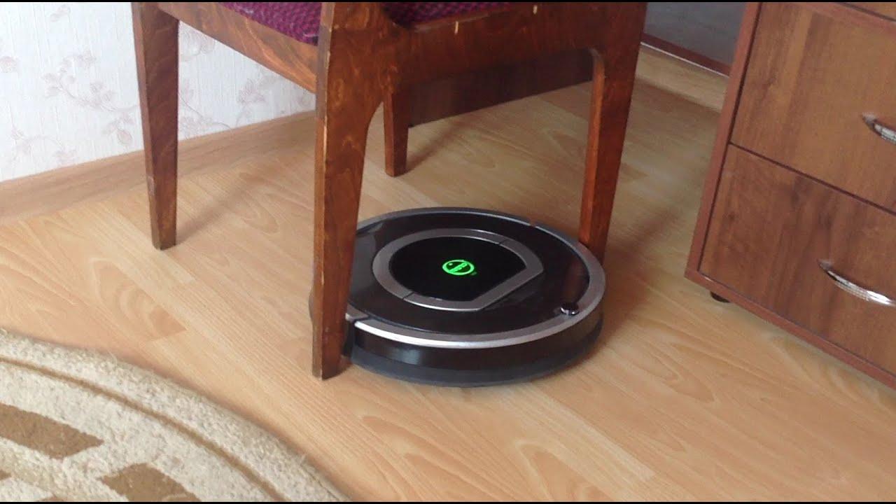 Робот-пылесос iRobot Roomba 780 уборка в помещении с препятствиями.Part3
