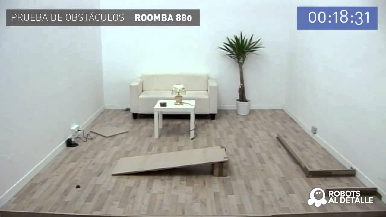Робот-пылесос iRobot Roomba 880 тест препятствий
