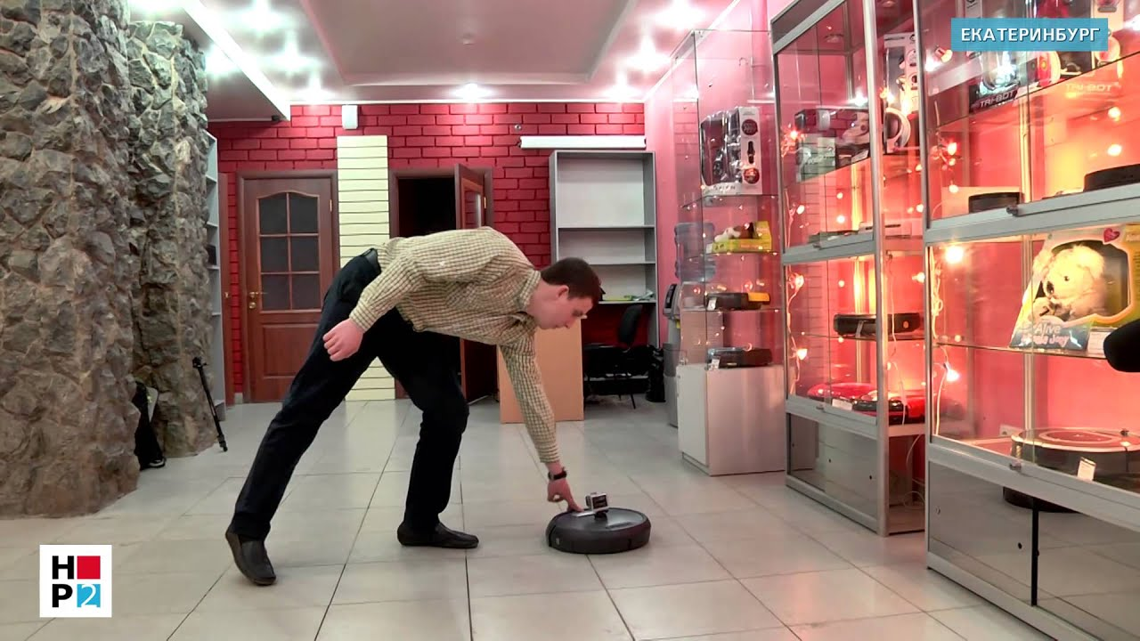 Робот - пылесос, и робот - поломойщик. Тест