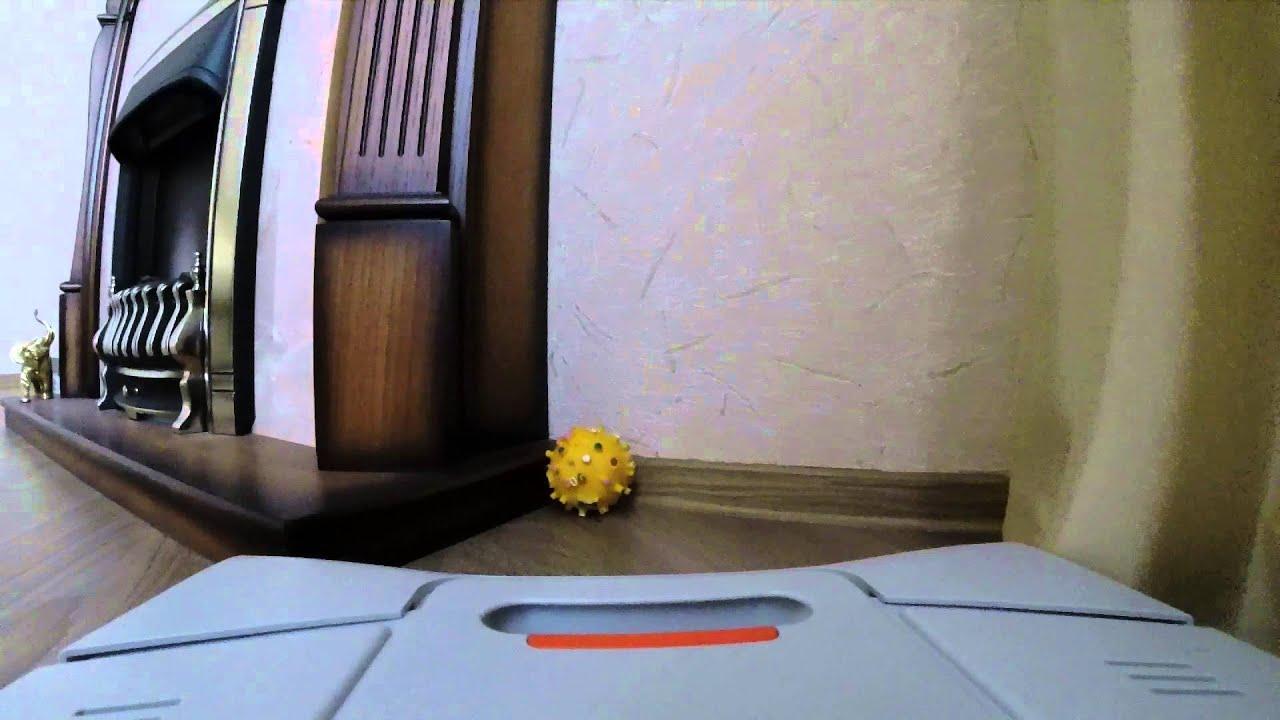 Уборка от робот-пылесоса Neato Robotics XV 12 Видео Тест не обзор