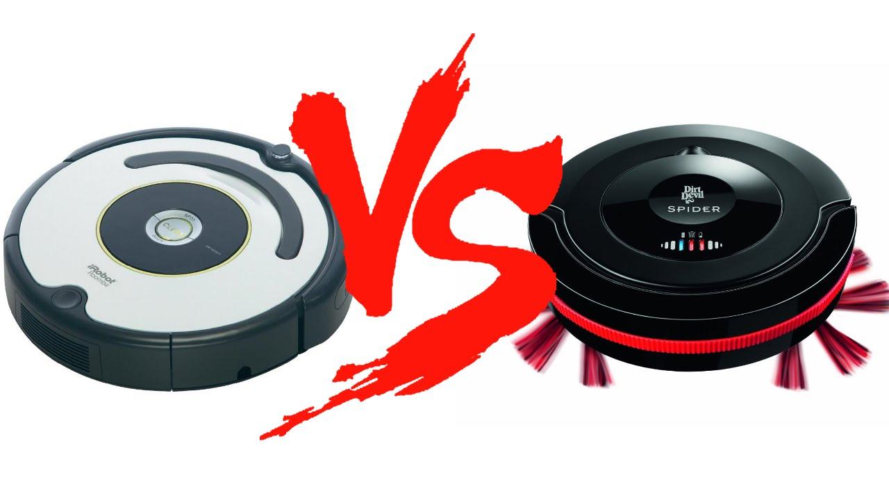 Сравнение роботов-пылесосов iRobot Roomba 620 vs Dirt Devil M607 Spider