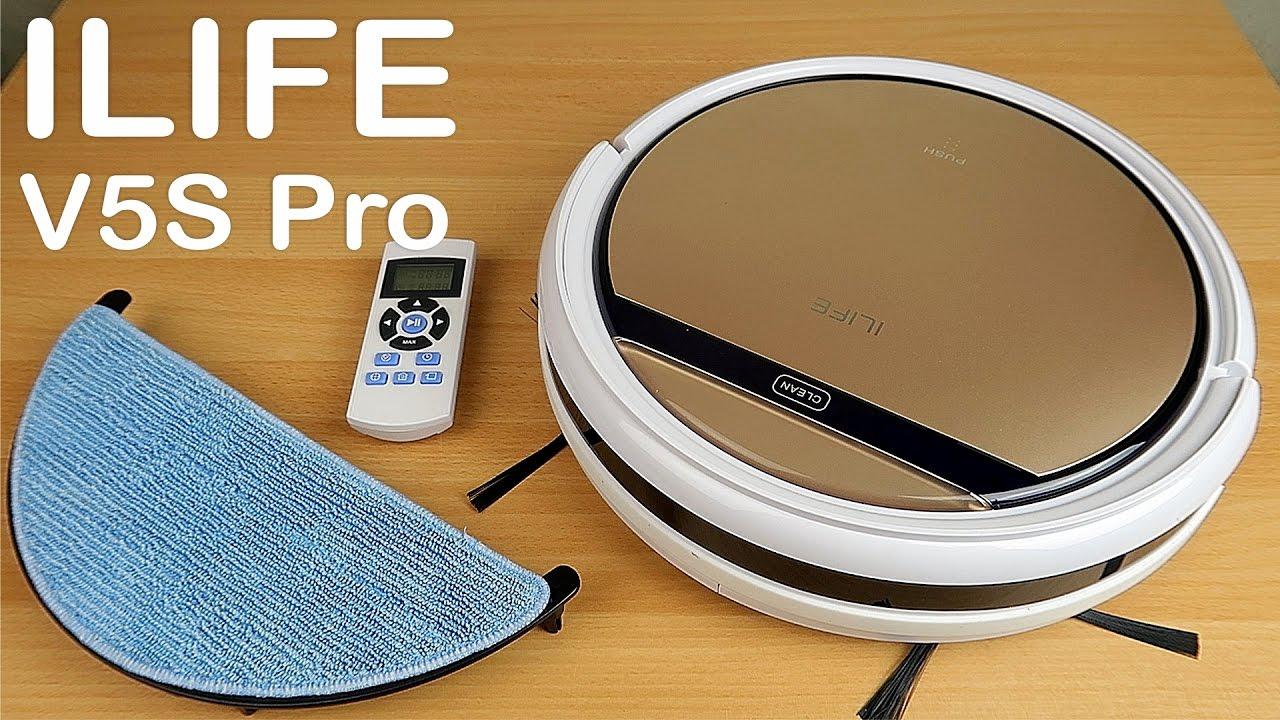 ILIFE V5S Pro - Робот-пылесос, который моет пол