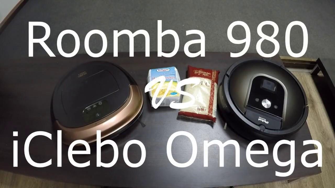 Битва роботов-пылесосов iRobot Roomba 980 VS iClebo Omega
