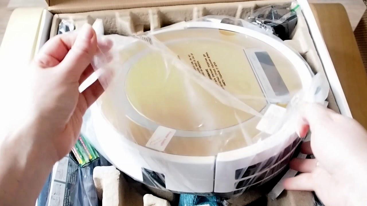 Распаковка робот-пылесоса ILIFE V55