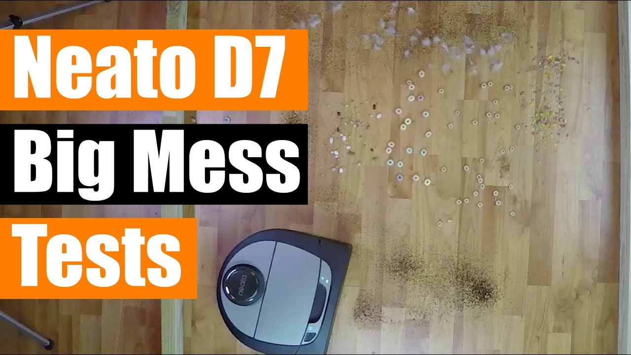 Neato Botvac Connected D7 - Big Mess Tests - Carpet Hard Floor