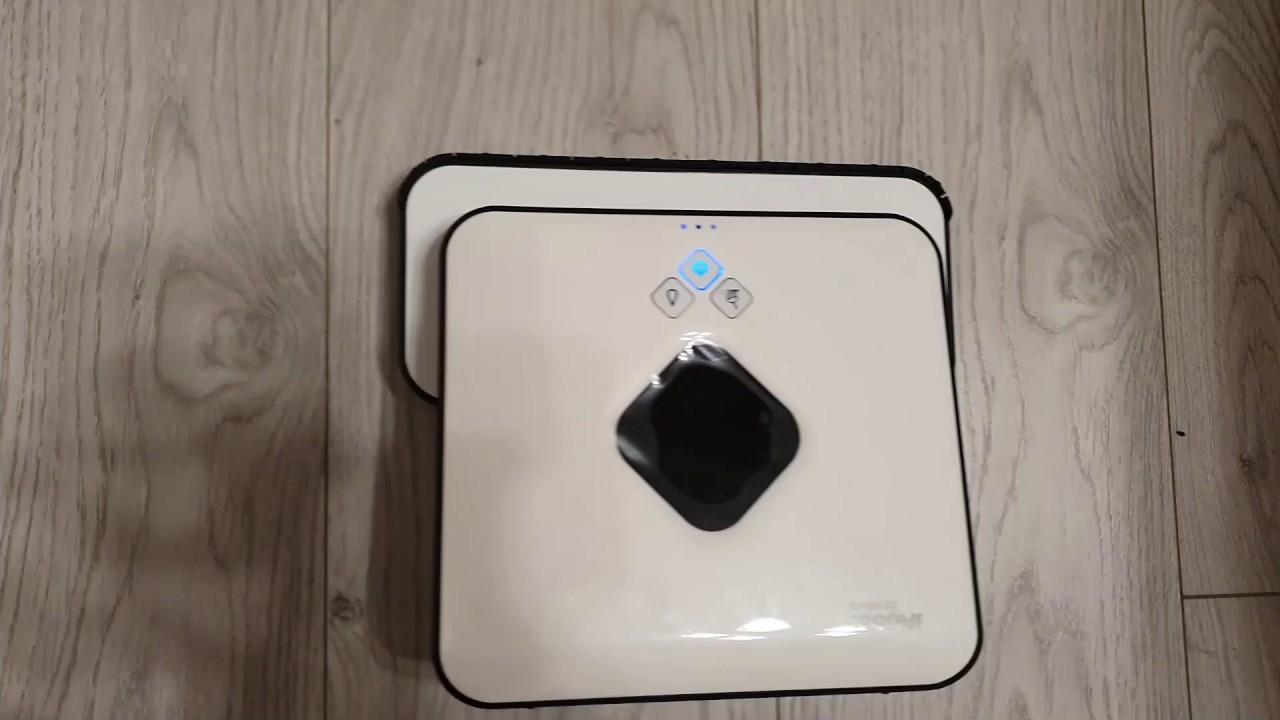 VLOG Обзор робот-полотер IRobot Braava 390t Тайминг сухой и влажной уборки