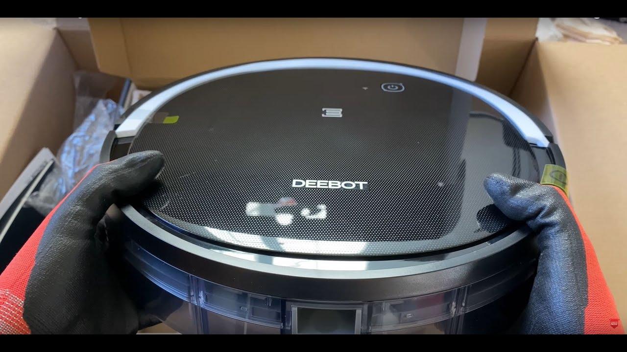 ECOVACS DEEBOT 500 Robotic Vacuum Cleaner Unboxing Initial Setup