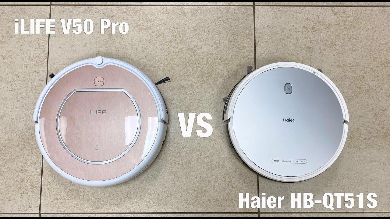 Обзор робота пылесос Haier HB-QT51S и сравнение с iLife V50 Pro