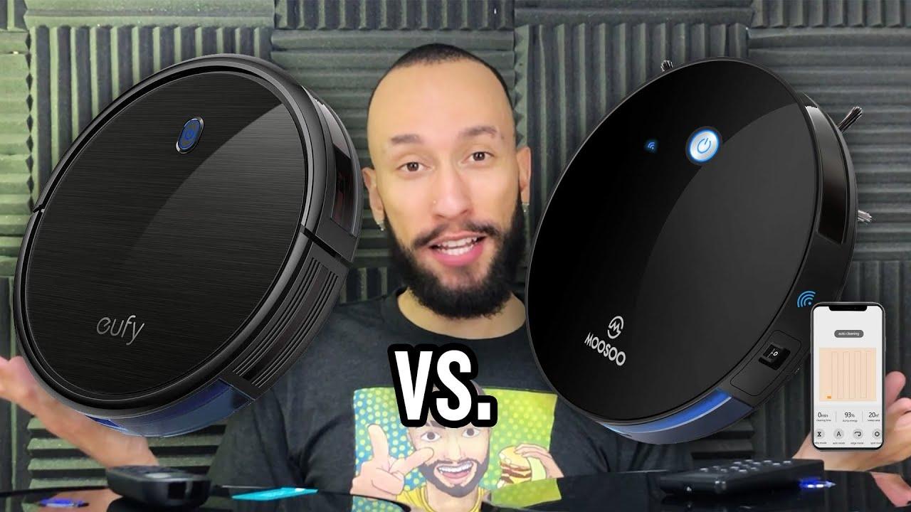 MOOSOO 1800Pa vs. eufy Anker 1300Pa Robot Vacuum