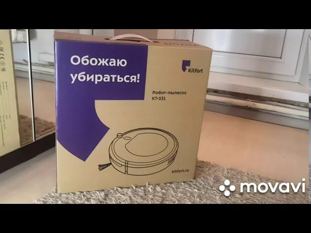 Видео-обзор на робот-пылесос KITFORT KT 531