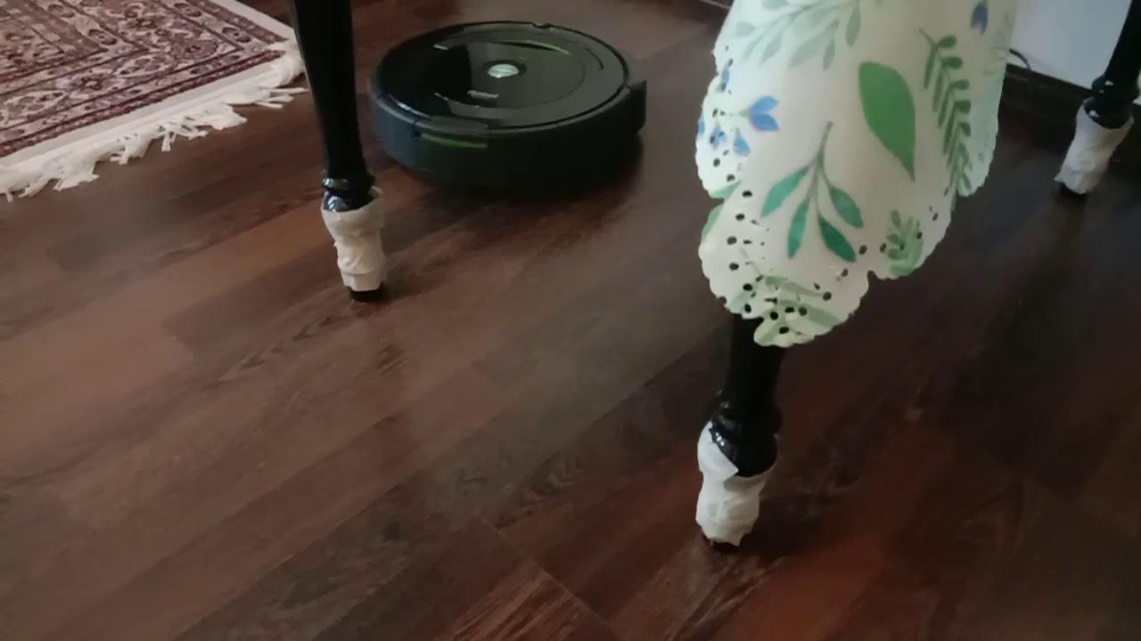 Как работает мой робот пылесос ❤️IROBOT ROOMBA 696👍🔥
