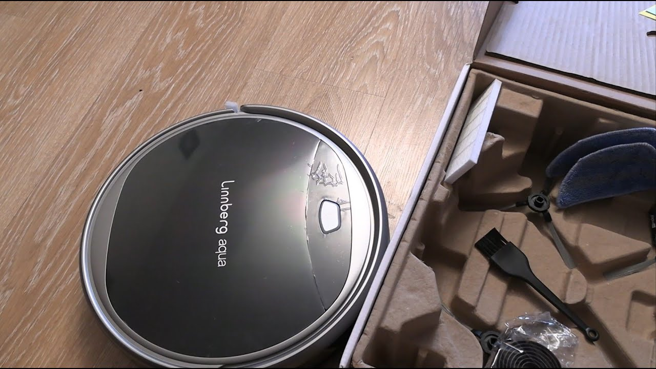 Робот-пылесос Linnberg Aqua - распаковка и обзор