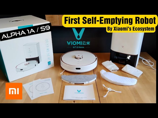 VIOMI S9 Alpha 1A Xiaomi's Ecosystem First Self-Emptying Robot Vacuum Cleaner