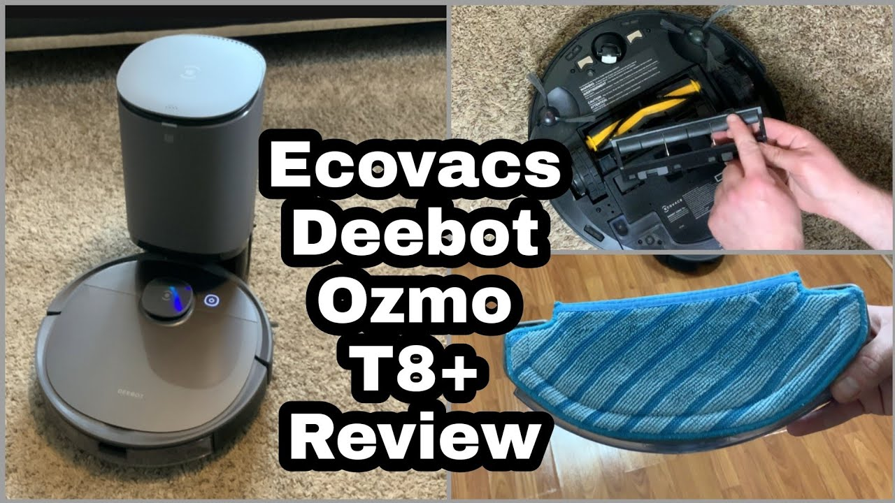 Ecovacs Deebot Ozmo T8+ Vacuum Mopping Robot Review Demonstration - T8 Plus