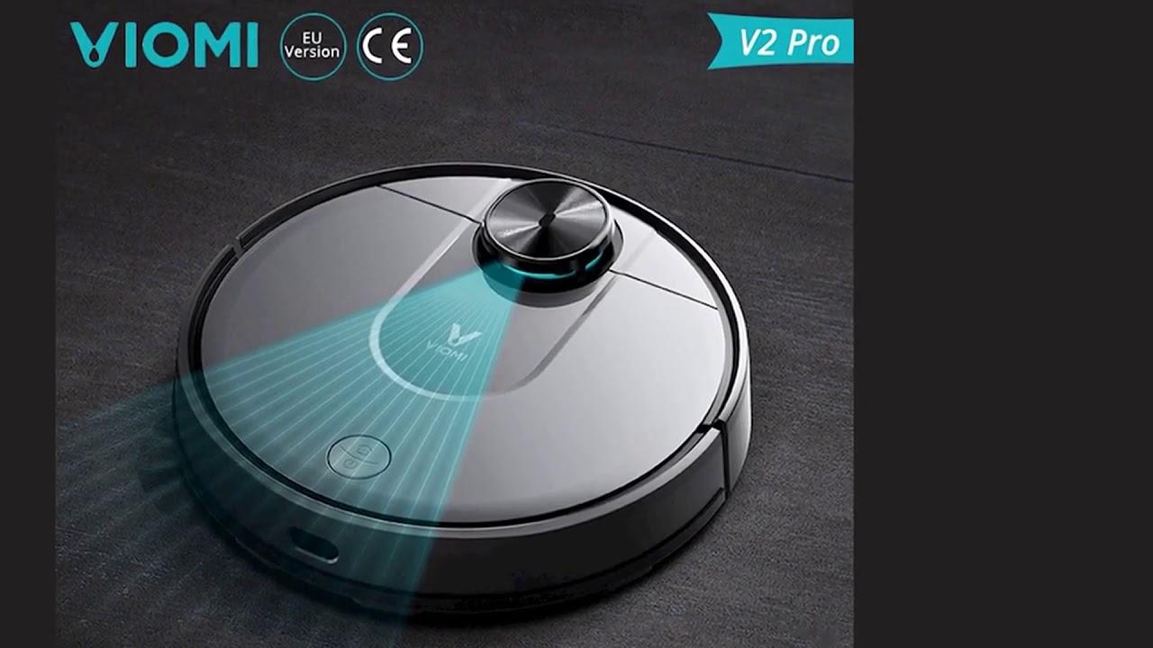 Робот-пылесос VIOMI V2 Pro 2 в 1, Мощное всасывание 2100 Па