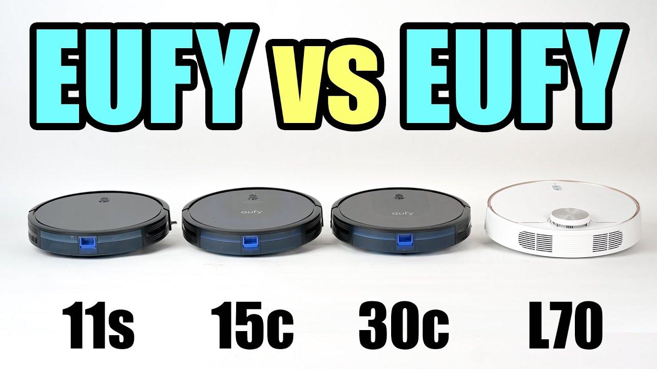Eufy Robot Vacuums COMPARED - 11s vs 11s Max vs 15c Max vs 30c vs L70